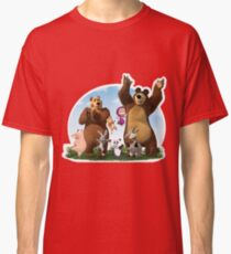 Masha and The Bear with friends Classic T-Shirt