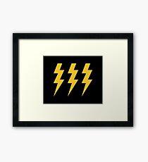 Lightening Strikes Three Times Framed Print