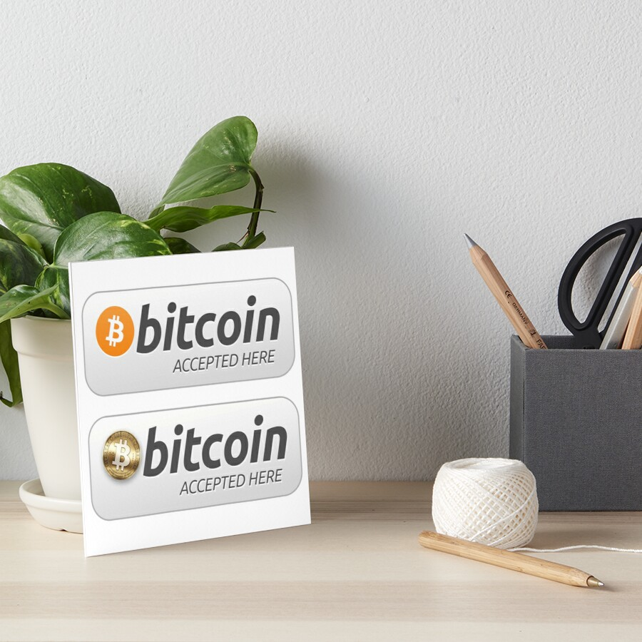 «bitcoin accepted here set» de yourgeekside