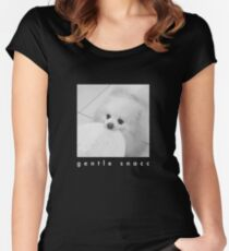 Gentle Snacc Tortilla Dog - white text Women's Fitted Scoop T-Shirt
