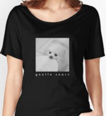 Gentle Snacc Tortilla Dog - white text Women's Relaxed Fit T-Shirt