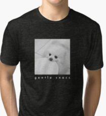 Gentle Snacc Tortilla Dog - white text Tri-blend T-Shirt
