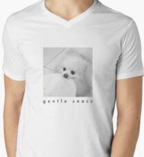 Gentle Snacc Tortilla Dog - black text Men's V-Neck T-Shirt