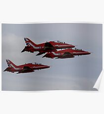 Red Arrows Departing Exeter Airport Poster