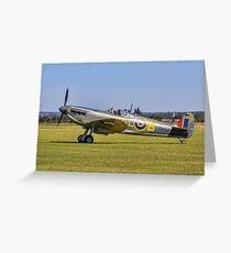 Spitfire F.Vb EP122 G-C ICSV Greeting Card