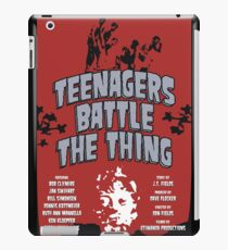 Teenagers Battle The Thing iPad Case/Skin