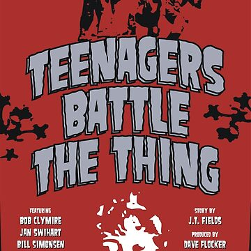 Teenagers Battle The Thing by MovieVigilante