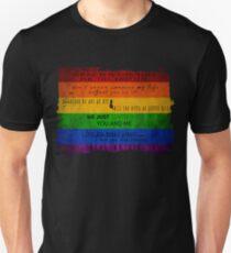 Sanvers Quotes + Pride  T-Shirt