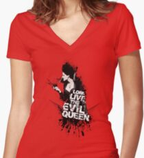 T H E - Q U E E N - I S - D E A D Women's Fitted V-Neck T-Shirt