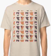 Cute black brown watercolor kitty animal pattern Classic T-Shirt
