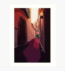 Streets of Spain - A view from Seville Art Print