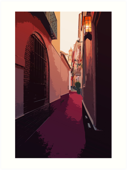 Streets of Spain - A view from Seville by Andrea Mazzocchetti