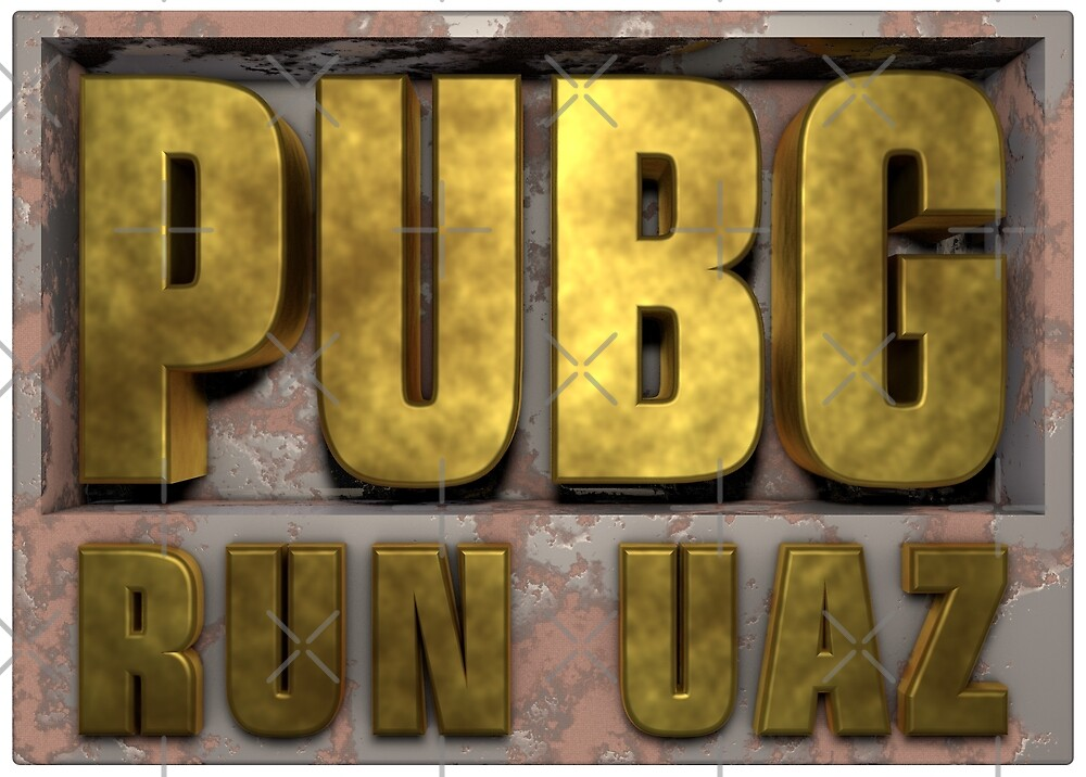 PUBG Playerunknowns Battlegrounds RUN UAZ by Delpieroo