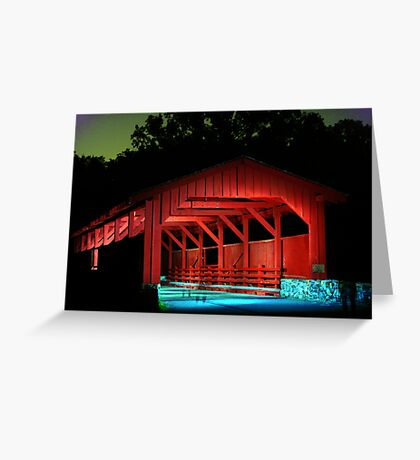 Ghost Bridge Greeting Card