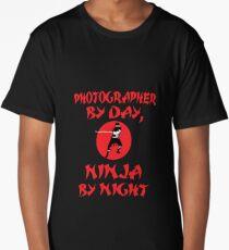 Photographer Day Ninja Night Long T-Shirt