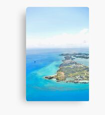 View from Plane of St. Georges Bermuda - Bright Canvas Print