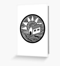 House of Lines Black Greeting Card