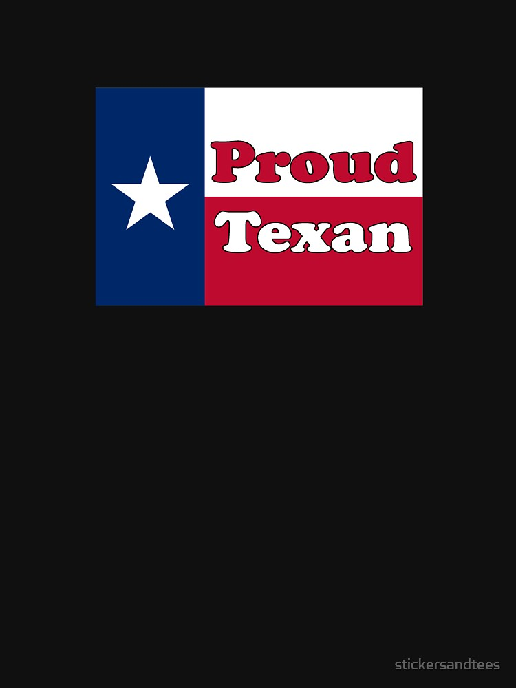 Proud Texan American Flag - Texas Pride Poster Sign Sticker Declaration by stickersandtees