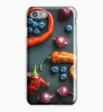 Peppers, blueberries and baby red onions No. 32 iPhone Case/Skin
