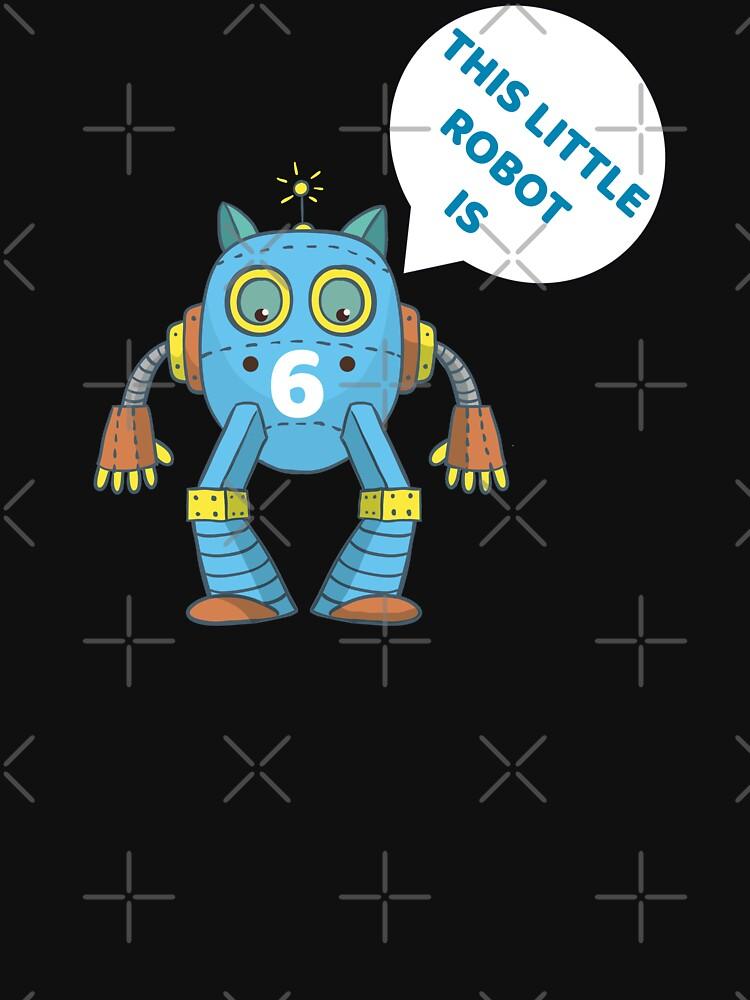 Kids 6th Birthday Boys Robot Science 6 Year Old Gift by FutureInTheAir