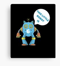 Kids 6th Birthday Boys Robot Science 6 Year Old Gift Canvas Print