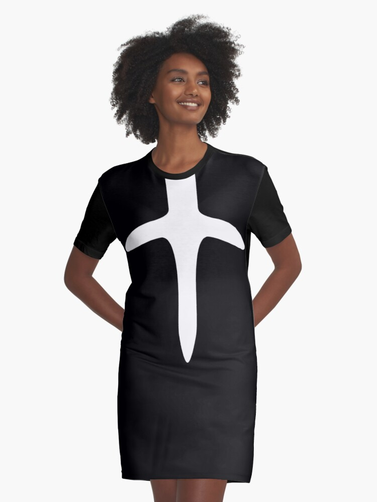 Cloak and Dagger Graphic T-Shirt Dress Front
