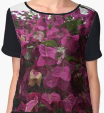 Pink Floral Photography Women's Chiffon Top