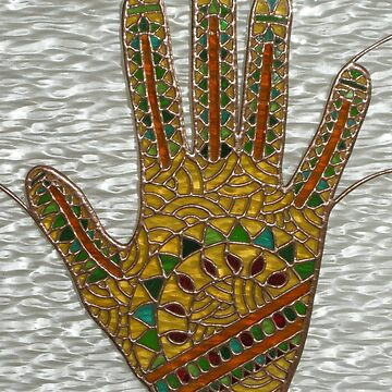 Mehndi Hand (indoor close-up photograph) by neilsglass