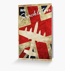 Vintage Shackleton Poster Greeting Card