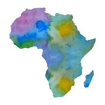 Colorful Africa Silhouette by BittenByErmines