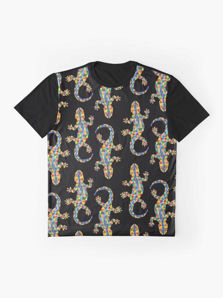 Alternative Ansicht von Vivid Barcelona Stadt Eidechse Grafik T-Shirt