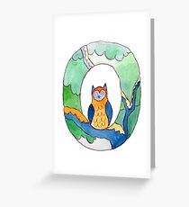 Animal ABC: O Greeting Card