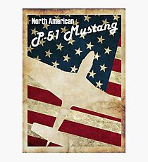 Vintage P-51 Mustang Photographic Print