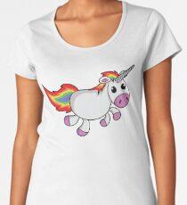 Funny Colorful Unicorn - Cartoon Women's Premium T-Shirt