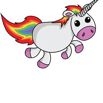 Funny Colorful Unicorn - Cartoon by Igorgomes
