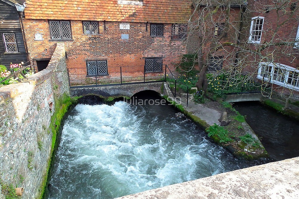 Water flowing through a mill by Juliarose99