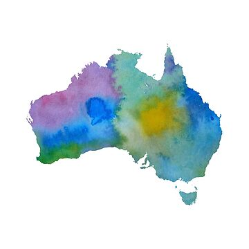 Colorful australia silhouette by BittenByErmines