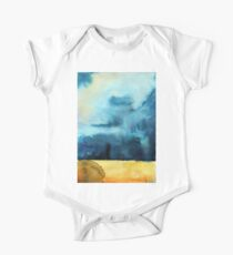 Watercolor landscape sky clouds One Piece - Short Sleeve