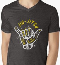 Jiu-jitsu. Go train! 2 Men's V-Neck T-Shirt