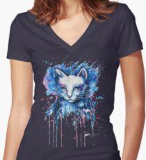 Cat 2018 Women's Fitted V-Neck T-Shirt