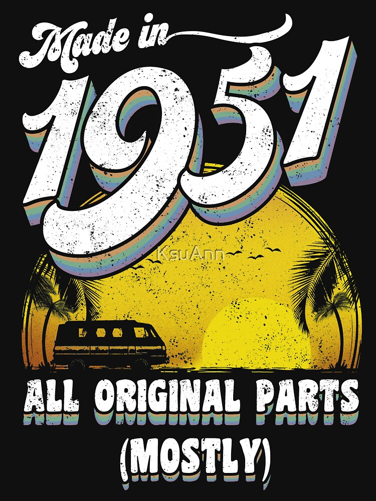 Made in 1951 All Original Parts 66 Birthday Gift by KsuAnn