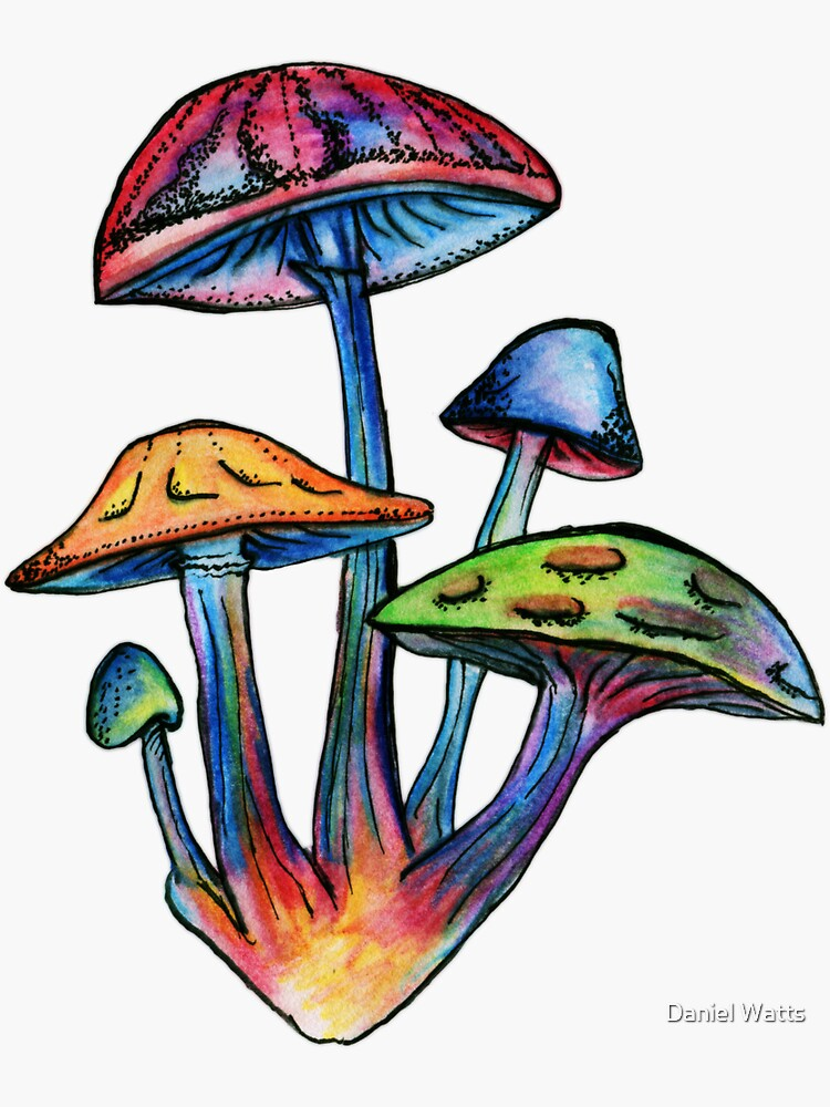 Racimo de Shrooms coloreados de DanJohnDesign