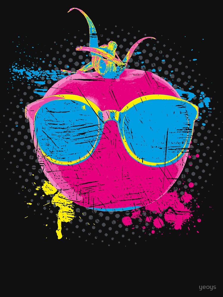Pop Art Tomato > Neon Colored Vegetable > Funny Tomato by yeoys