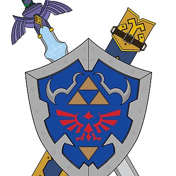 MASTER SWORD AND HYLIAN SHIELD by GlewPrint