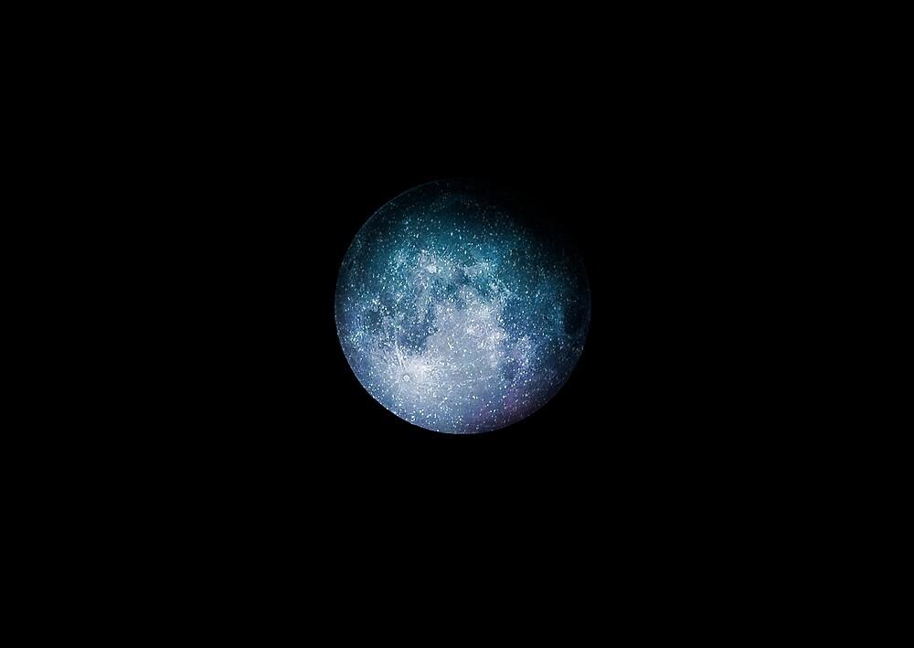 Starry Moon by hellichipmunk