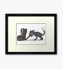 Boots n' Cats Framed Print