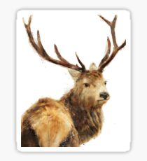 Winter Red Deer Sticker