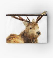 Winter Red Deer Zipper Pouch