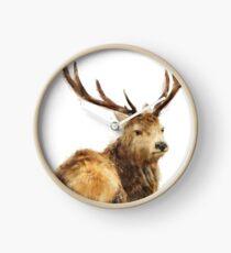 Winter Red Deer Clock