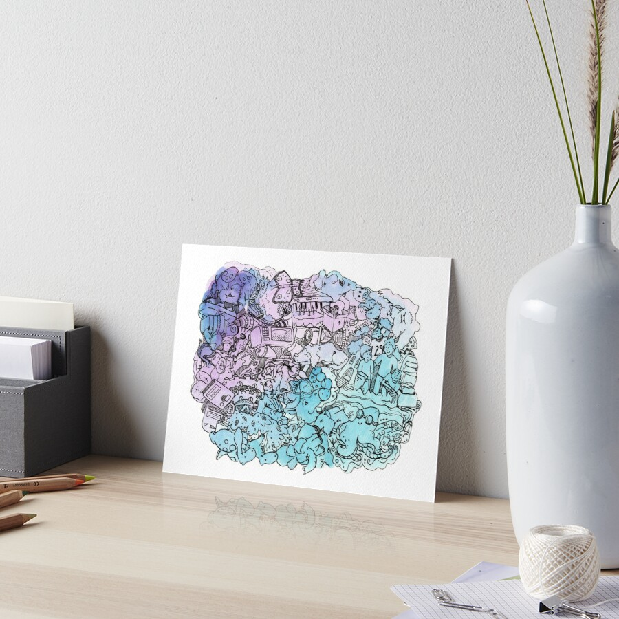 Watercolor Doodle Pattern by pigknit